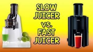 Slow Vs Fast Juicer